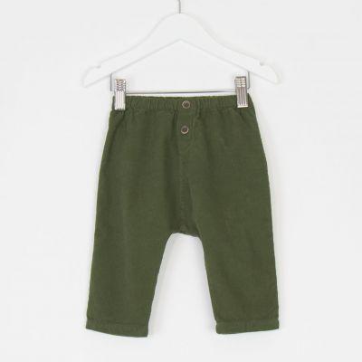 Baby Corduroy Pants Green by Babe & Tess-3M