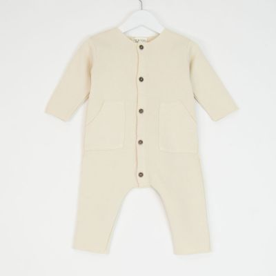 Baby Jersey Overall Ecru by Babe & Tess-3M