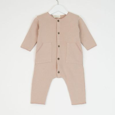 Baby Jersey Overall Pink by Babe & Tess-3M