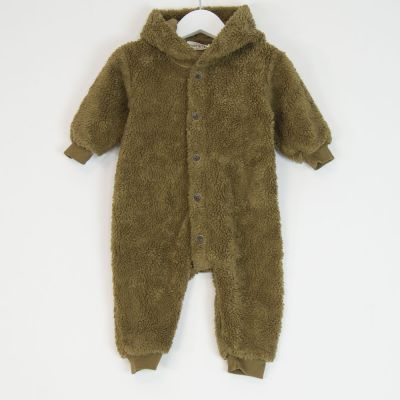 Baby Outdoor Teddy Overall Camel by Babe & Tess-3M