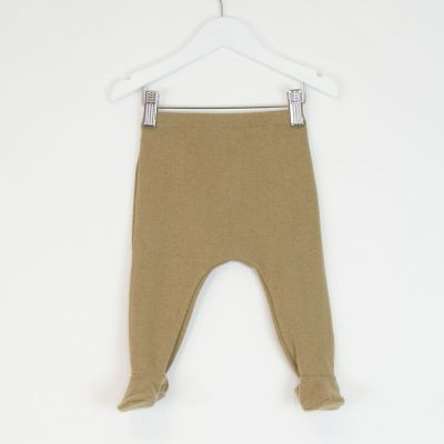 Baby Soft Jersey Footies Camel by Babe & Tess-3M