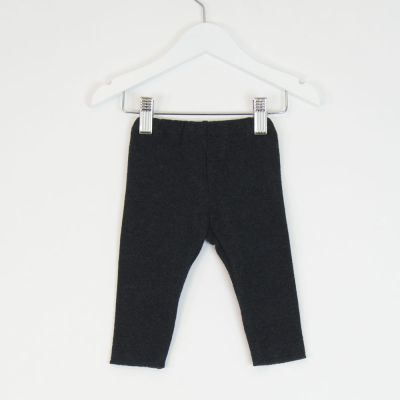 Baby Soft Jersey Leggings Anthracite by Babe & Tess-3M