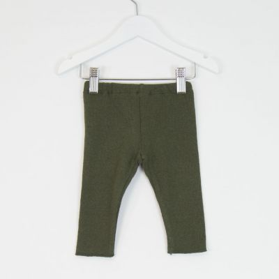 Baby Soft Jersey Leggings Green by Babe & Tess-3M