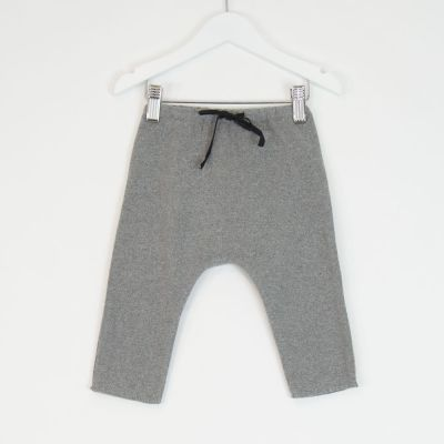 Baby Soft Jersey Pants Grey Melange by Babe & Tess