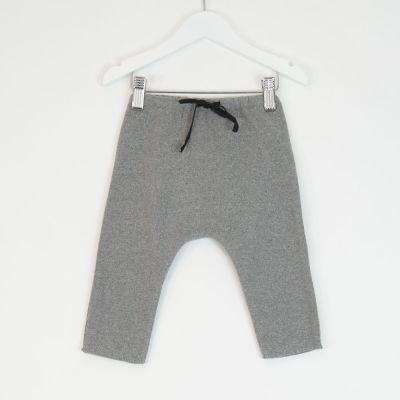 Baby Soft Jersey Pants Grey Melange by Babe & Tess-3M