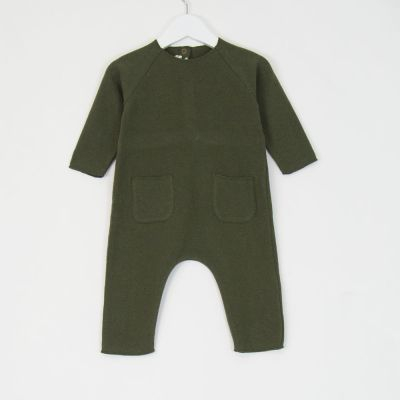 Baby Soft Jersey United Overall Green by Babe & Tess-3M