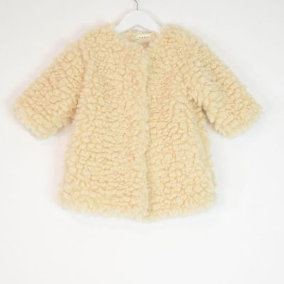 Baby Teddy Coat Ecru by Babe & Tess-12M