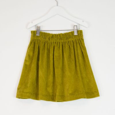 Corduroy Skirt Lime by Babe & Tess