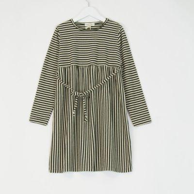 Dress Green Natural Stripes by Babe & Tess