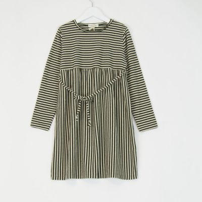 Dress Green Natural Stripes by Babe & Tess-3Y