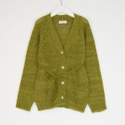 Knitted Cardigan Lime by Babe & Tess