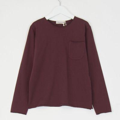 Pocket T-Shirt Burgundy by Babe & Tess