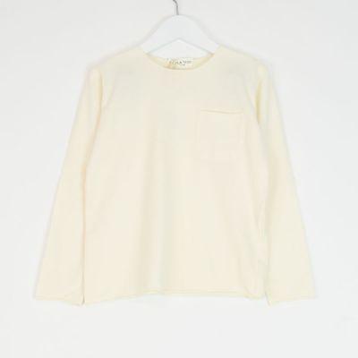 Pocket T-Shirt Natural by Babe & Tess-3Y
