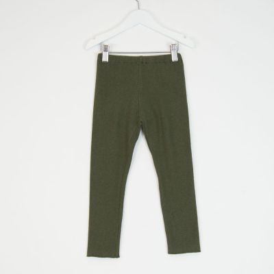 Soft Jersey Leggings Green by Babe & Tess-3Y