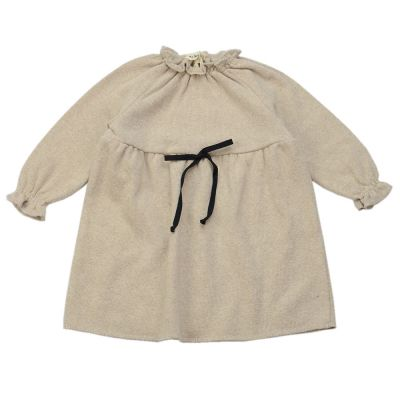 Soft Jersey Mini Baby Dress Natural by Babe & Tess