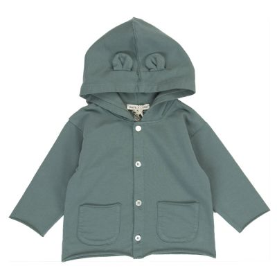 Jersey Baby Jacket with Ears Military Grey by Babe & Tess