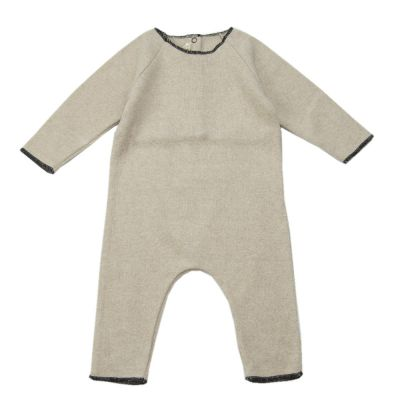 Soft Jersey Baby Overall Natural-3M