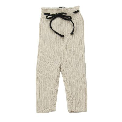 Woolen Knitted Leggings Natural by Babe & Tess-3M