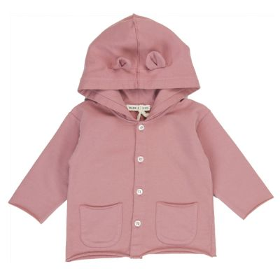 Jersey Baby Jacket with Ears Dusty Rose by Babe & Tess