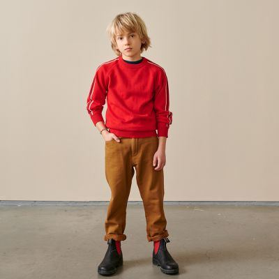 Cotton and Wool Sweater Galyr Ketchup by Bellerose