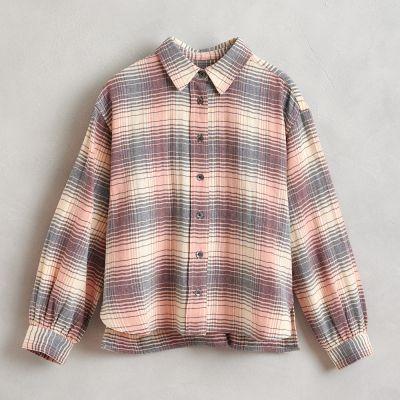 Cotton Shirt Ironie Multicolor Check by Bellerose-4Y