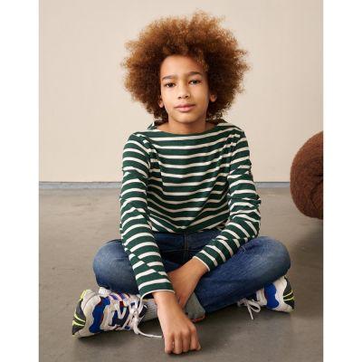 T-Shirt Abakar Green Stripes by Bellerose
