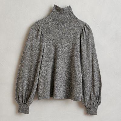 Soft Turtleneck Shirt Mazo Mid Grey by Bellerose-4Y