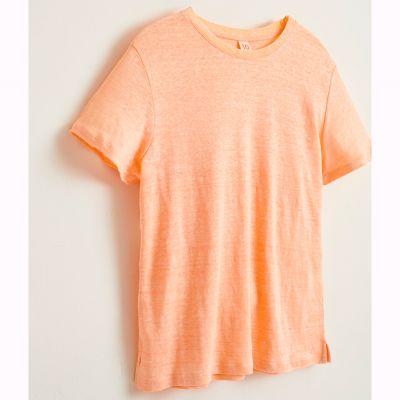 Linen T-Shirt Mio Flamingo by Bellerose-4Y
