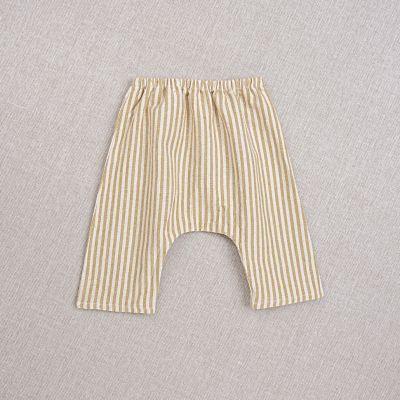 Baby Trousers Arniko Striped Ochre-3M