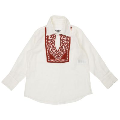 Caftan San Giuliano with Red Embroidery Details by Touriste
