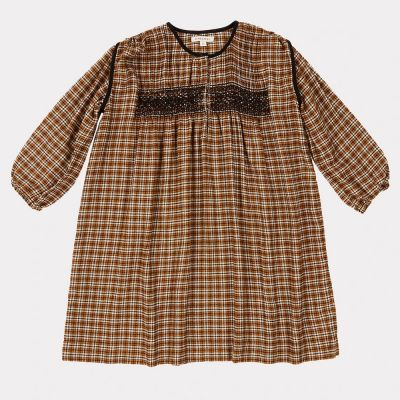 Dress Dove Yellow Check by Caramel-3Y