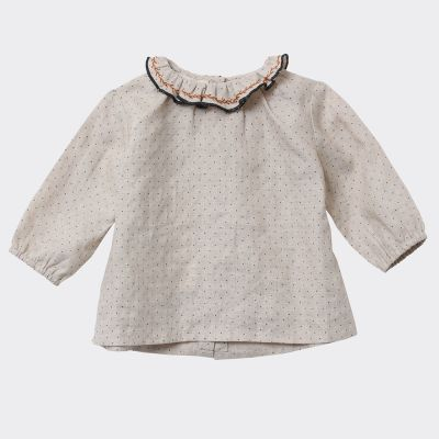 Baby Blouse Miron Cream Dotty by Caramel
