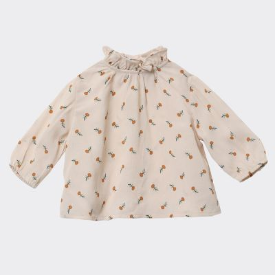 Baby Blouse Miron Toffee Ditsy Flower Print by Caramel-3M