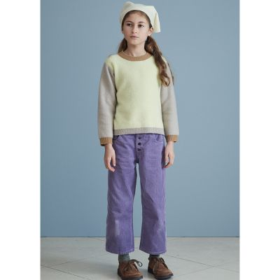 Cord Trousers Neptune Amethyst by Caramel