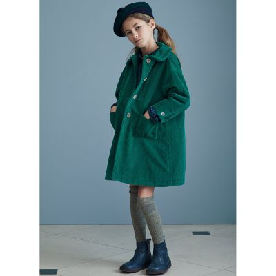Corduroy Coat Chee Emerald by Caramel
