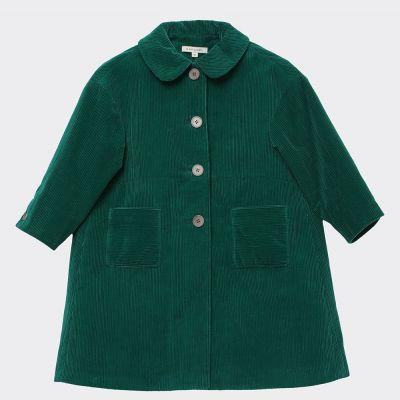 Corduroy Coat Chee Emerald by Caramel-6Y