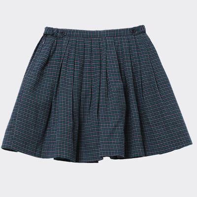 Skirt Bail Blue Green Check by Caramel