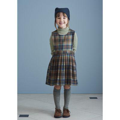 Wool Dress Jupiter Forest Check by Caramel