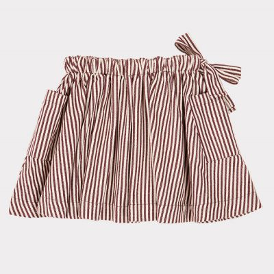 Skirt Cormoran Brown/Ecru Stripes by Caramel-4Y