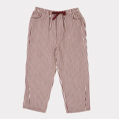 Trousers Squid Brown/Ecru Stripes by Caramel