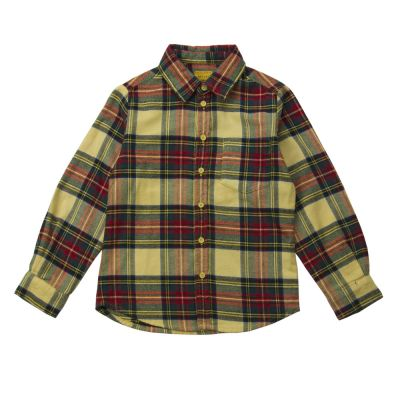 Flannel Shirt Benjamin Clan Butter Check-4Y