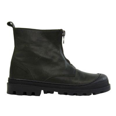 Leather Boots with Front Zip by Pepe Children Shoes