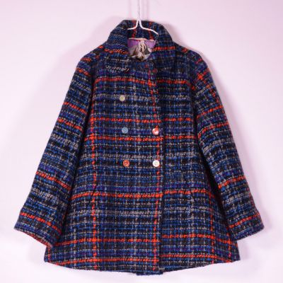 Wool Jacket Blue Check by Pero