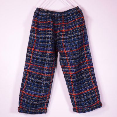 Wool Trousers Blue Check by Pero