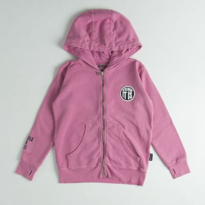 Zip Hoodie What it is Pink by nununu