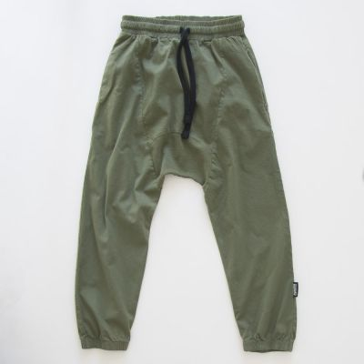 Airy Baggy Pants Olive by nununu