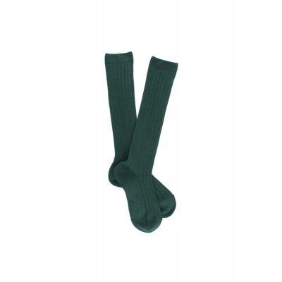 Ribbed Long Socks Green by Dore Dore