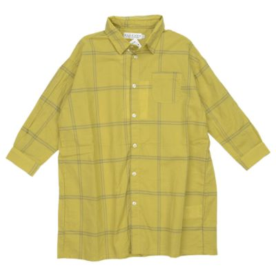 Long T-Shirt Dress Yellow/Grey Check by East End Highlanders