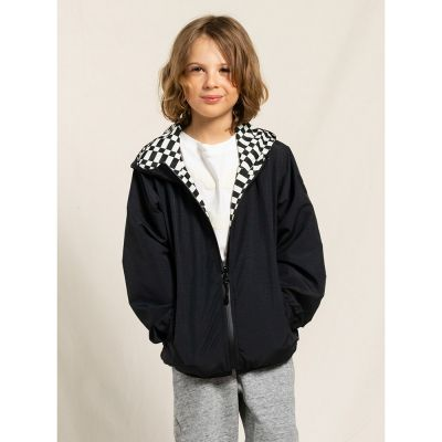 Reversible Wind Jacket Buckley Ash Black by Finger in the Nose