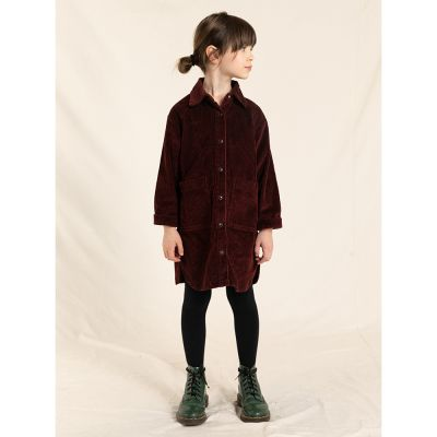 Cord Dress Ivy Burgundy by Finger in the Nose